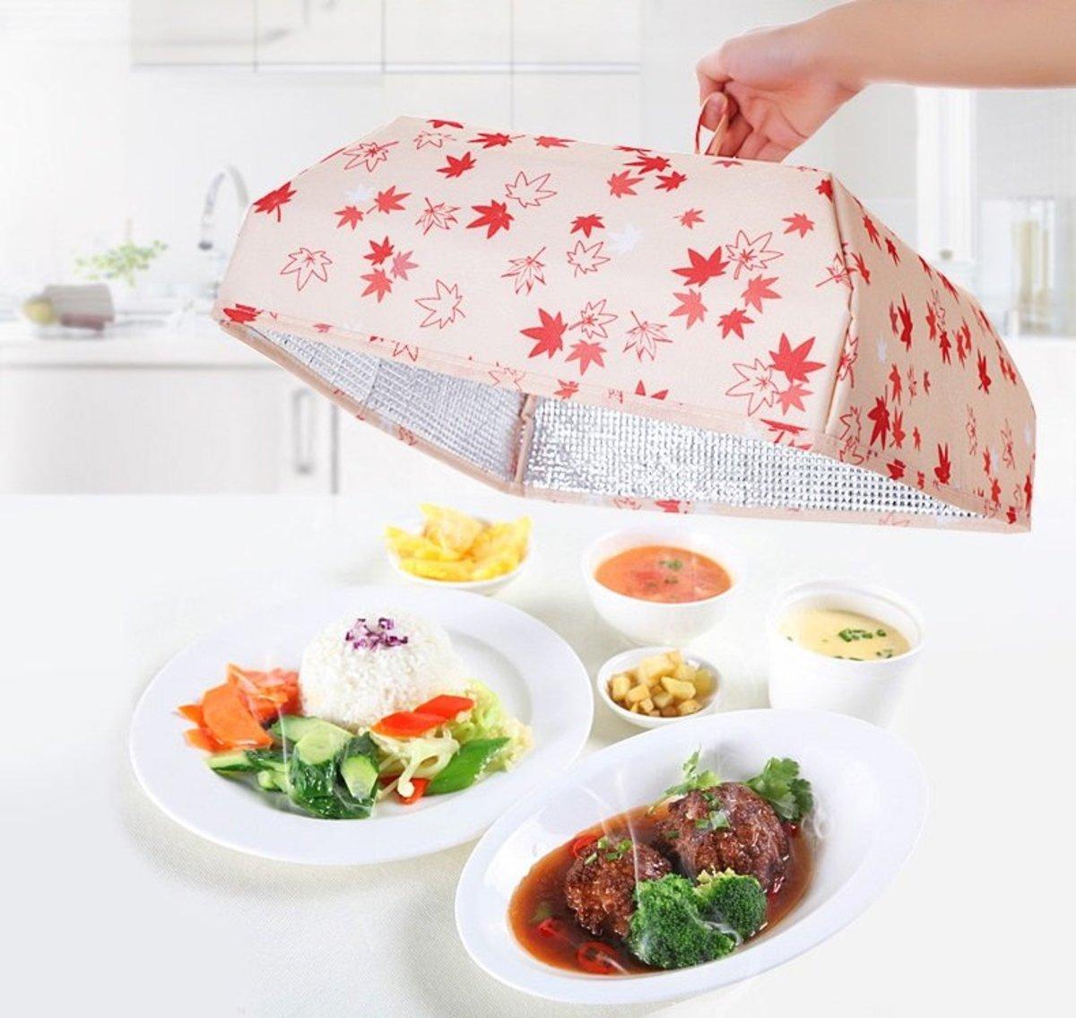 Japan Worldlife foldable storage food insulation cover (Maple Leaf)