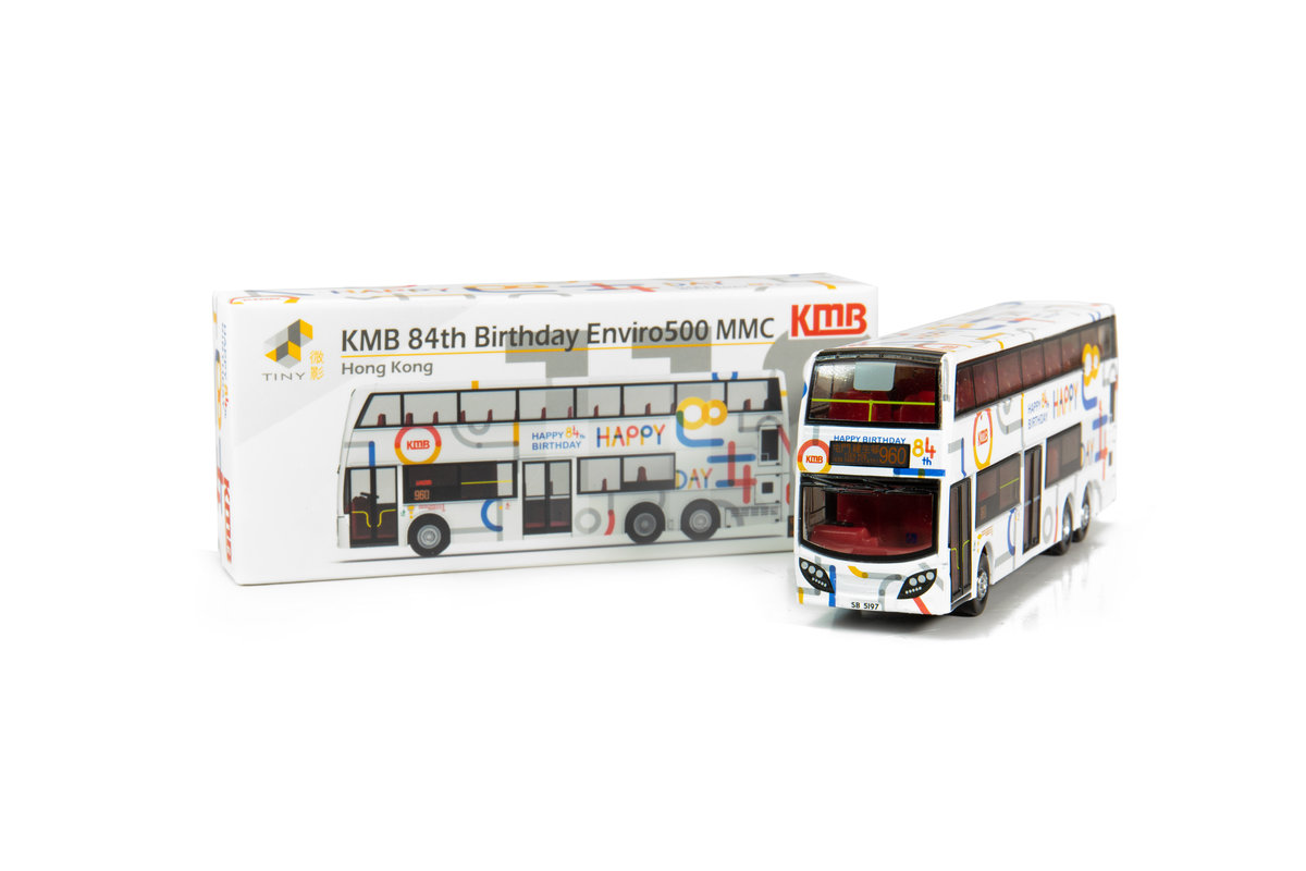 Tiny City 118 Die-cast Model Car – KMB Enviro500 MMC 84th Birthday Bus