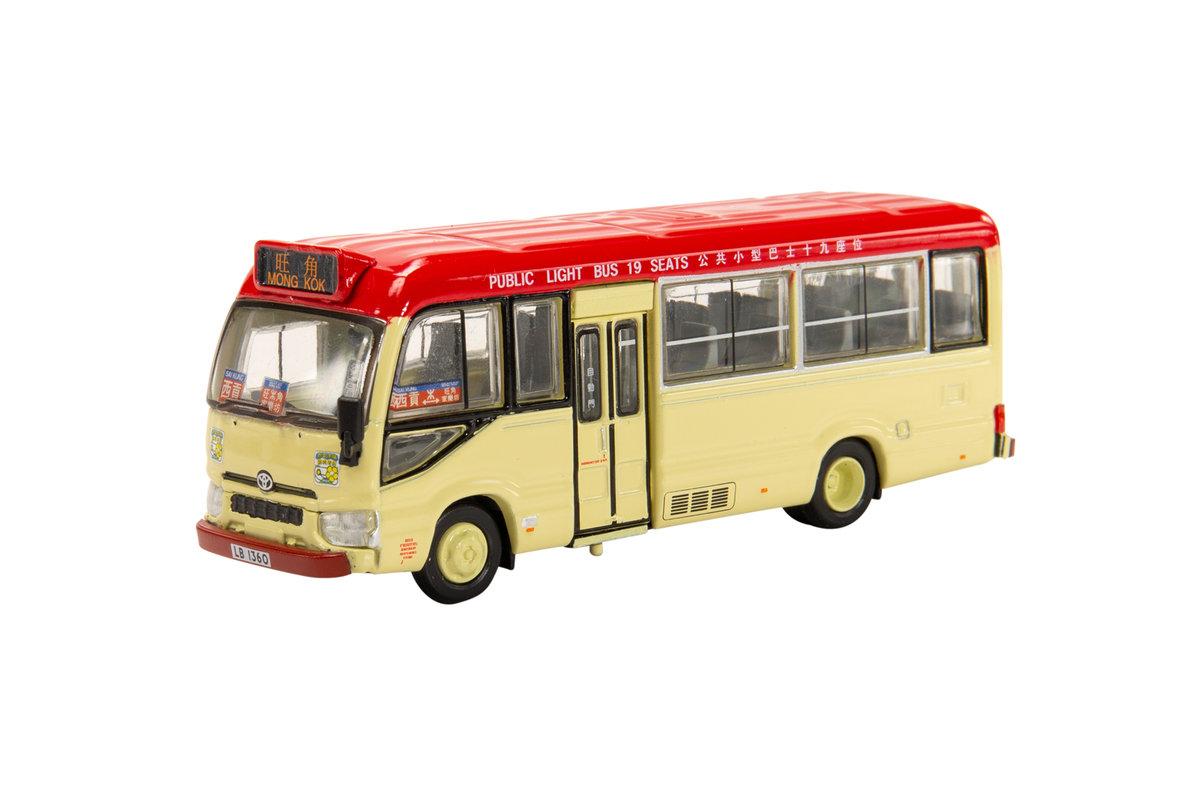 Tiny City 183 Diecast – Toyota Coaster (B70) Red Minibus (19-seats)