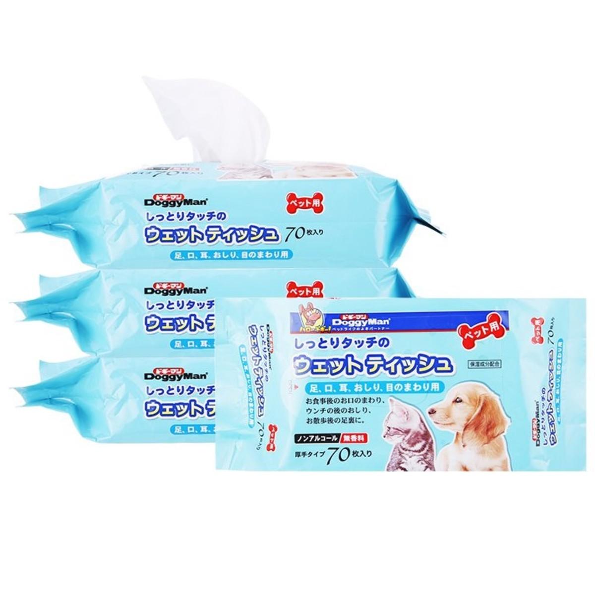 寵物專用濕紙巾70片 x4