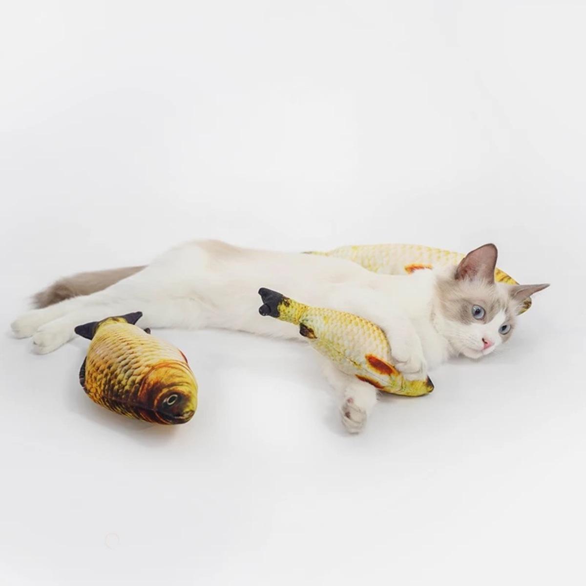 貓草魚玩具
