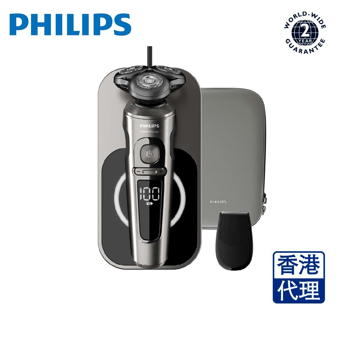 Shaver S9000 Prestige Wet & Dry Electric Shaver SP9860/13