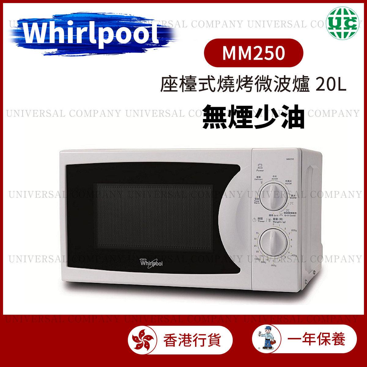 MM250 20L 無煙少油 座檯式燒烤微波爐(香港行貨)