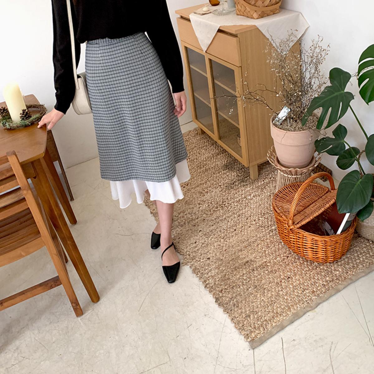 Check Modern Skirt