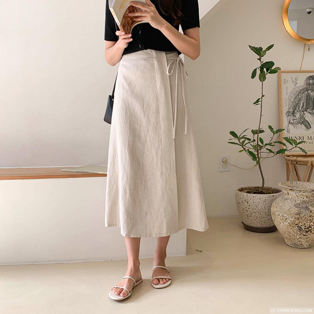 橡筋腰頭傘形腳半截裙
