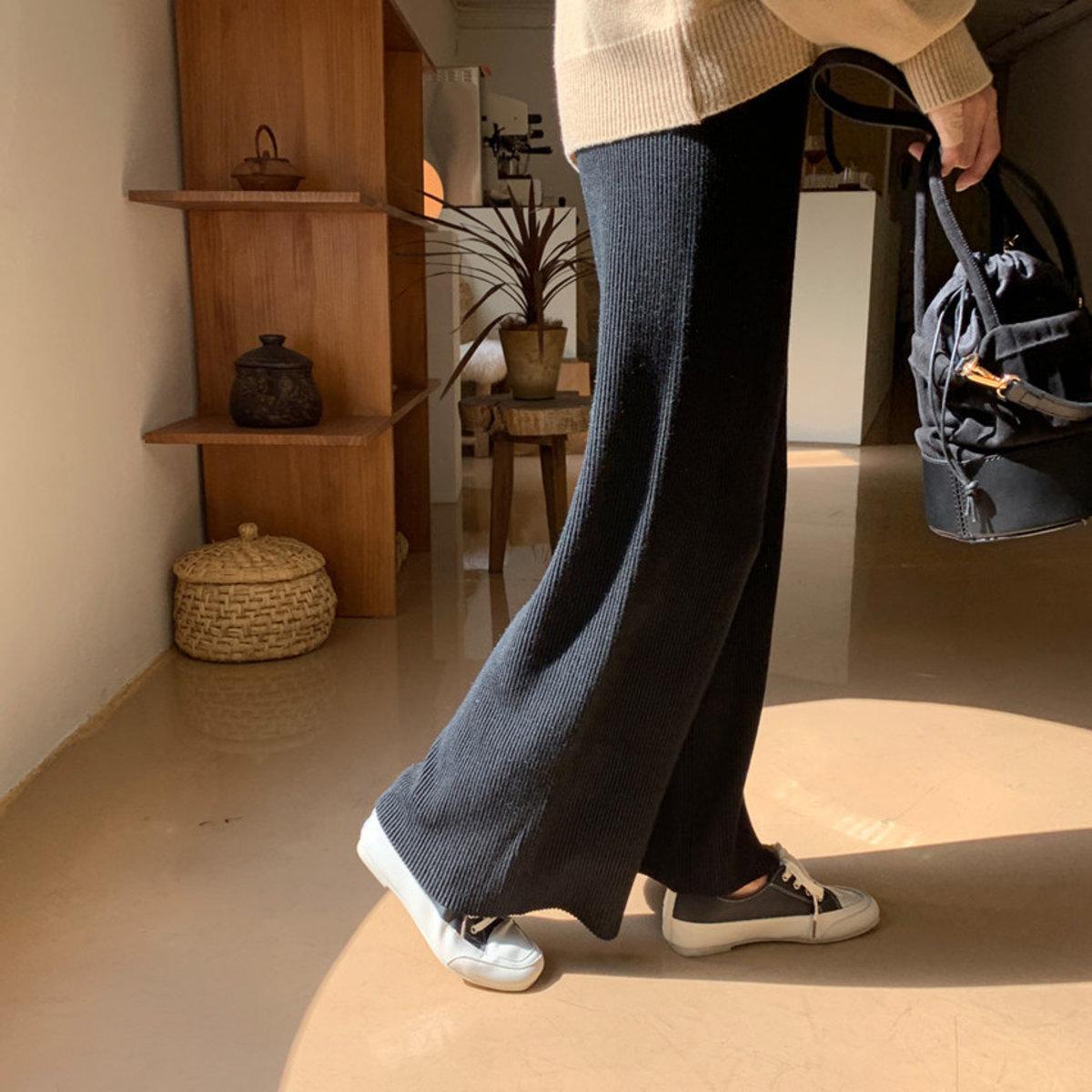 Corduroy Knit Pants