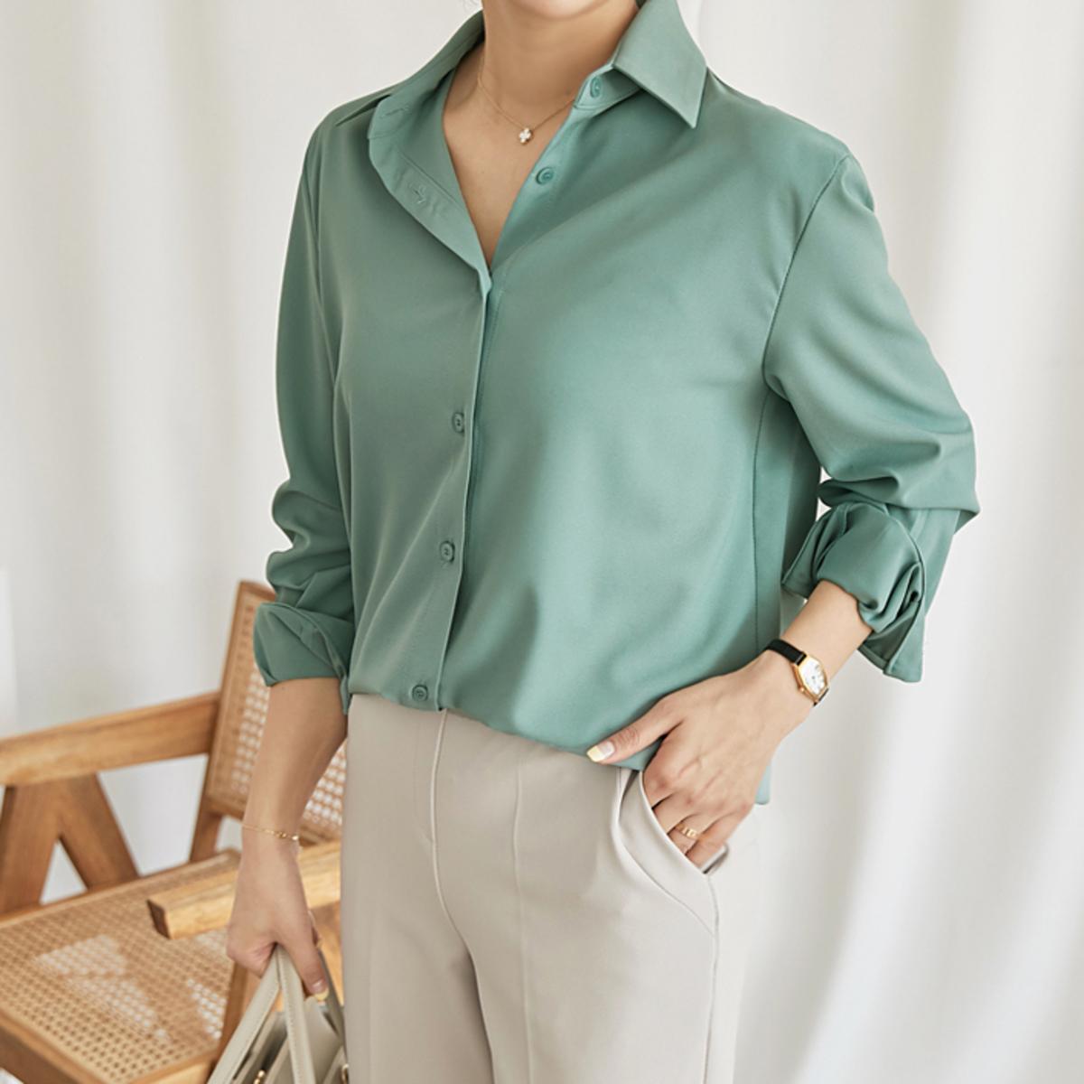 純色長袖恤衫