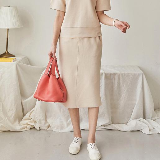 束腰繩直身半截裙