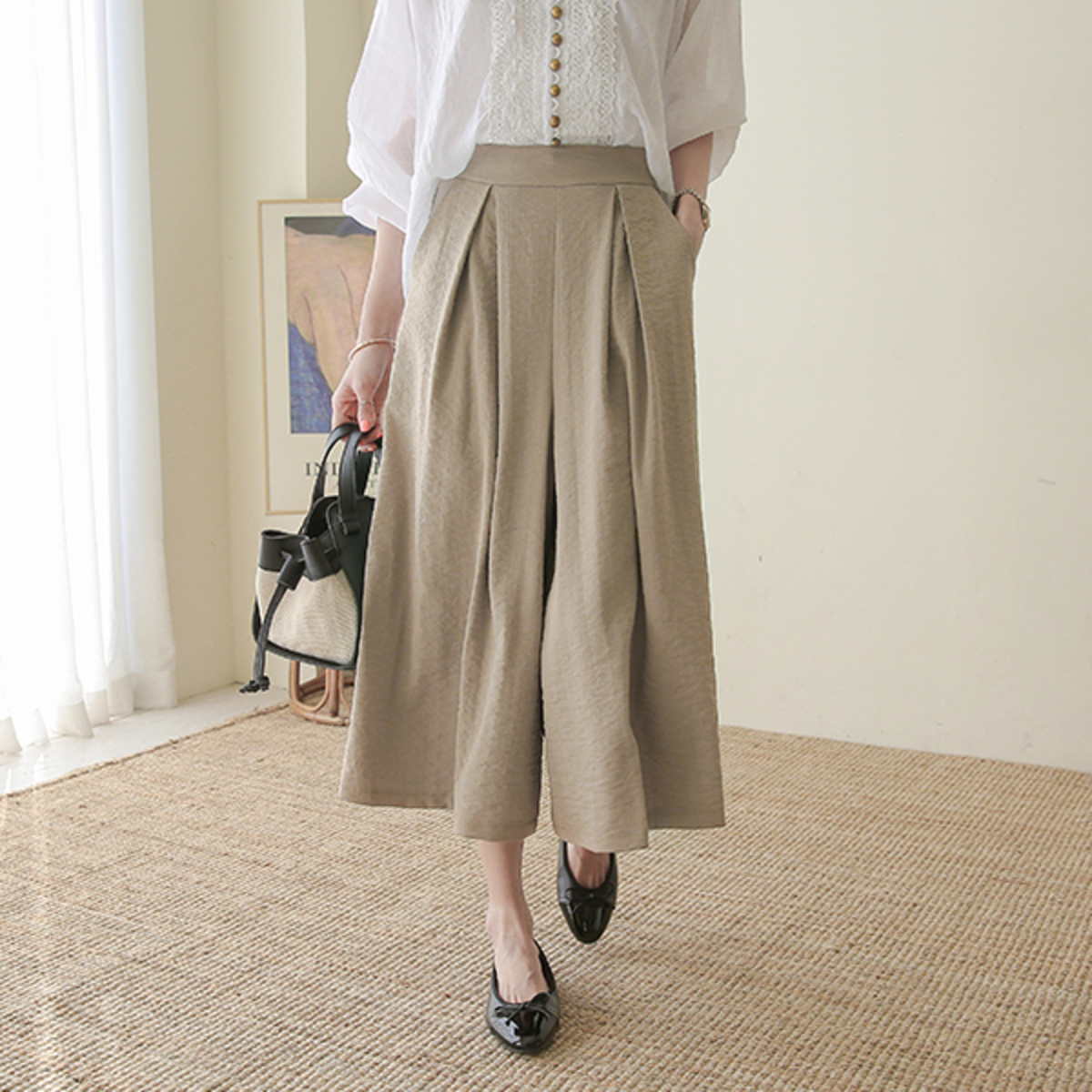 Wide Pleated Linen Pants