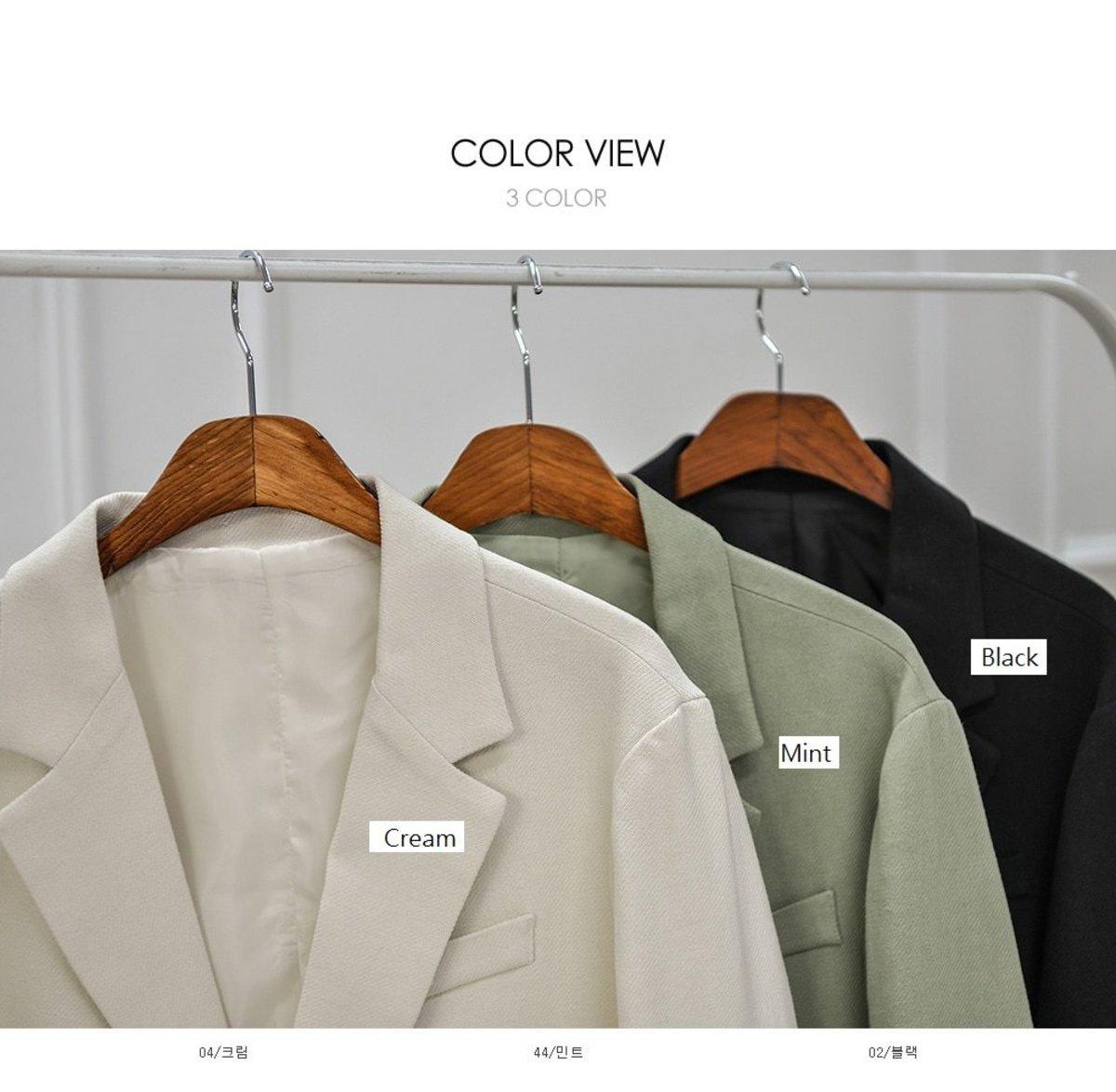 純色單襟西裝外套