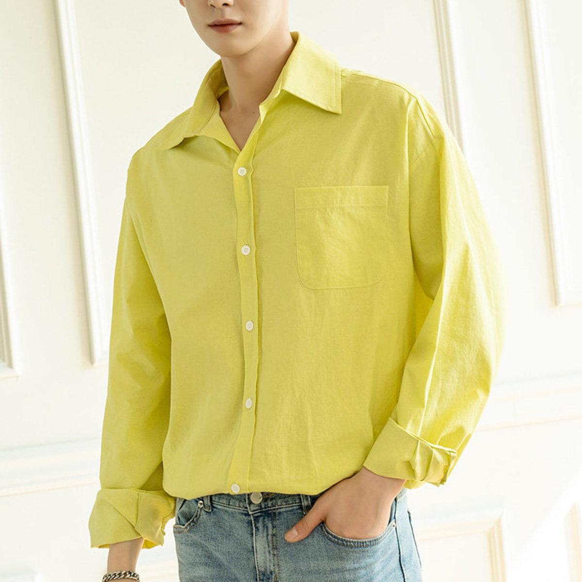 純色單袋恤衫