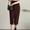 Front Slit Straight Cut Skirt
