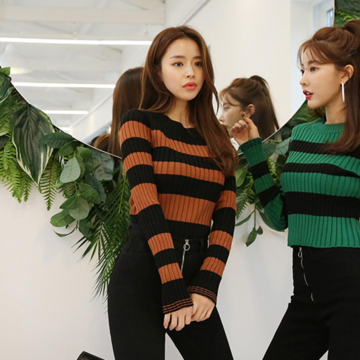 Round Neck Stripe knit