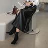 Leather Midaxi Skirt