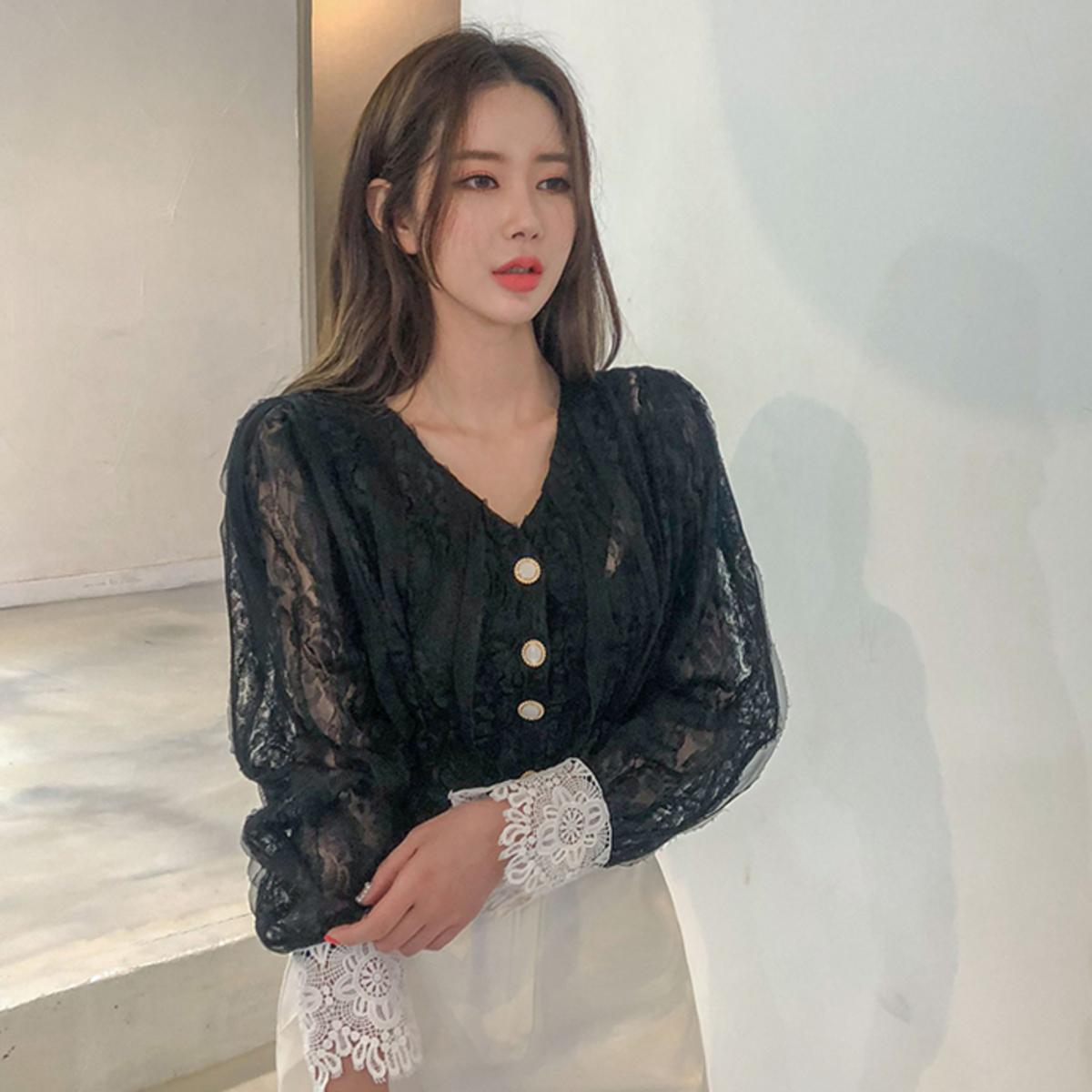 4041e42e8d DABAGIRL   V-Neck Lace Blouse   HKTVmall Online Shopping