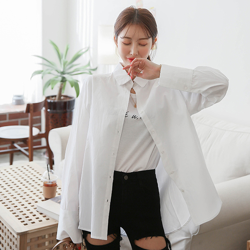 Extended Sleeve Loose Fit Shirt