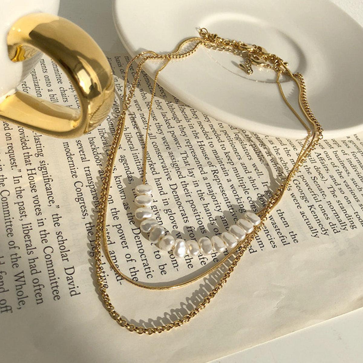 3-Piece Mixed Gold-Tone Necklace Set