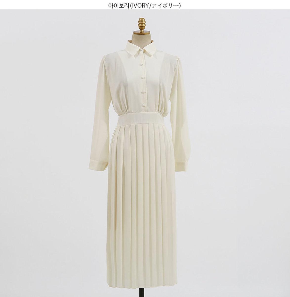 Tie-Back Pleated Shirt Dress