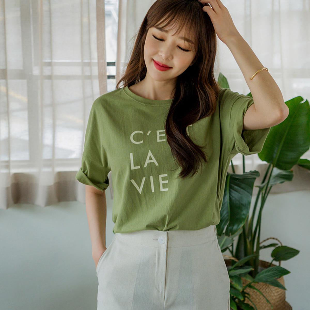 印字圓領T恤