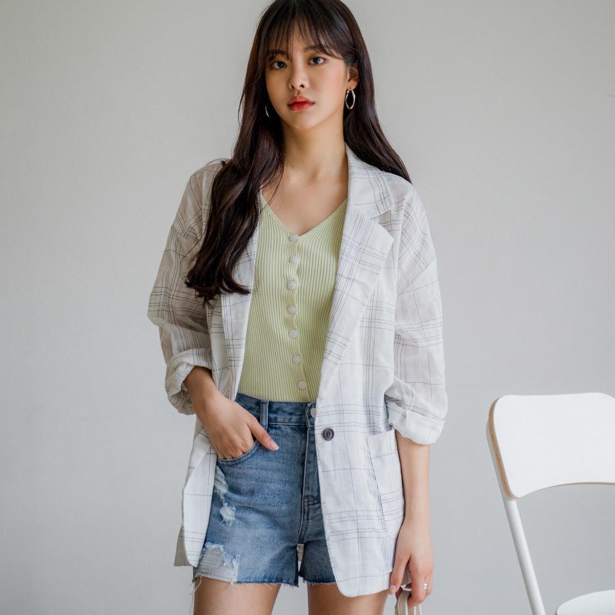 Cotton Check Jacket