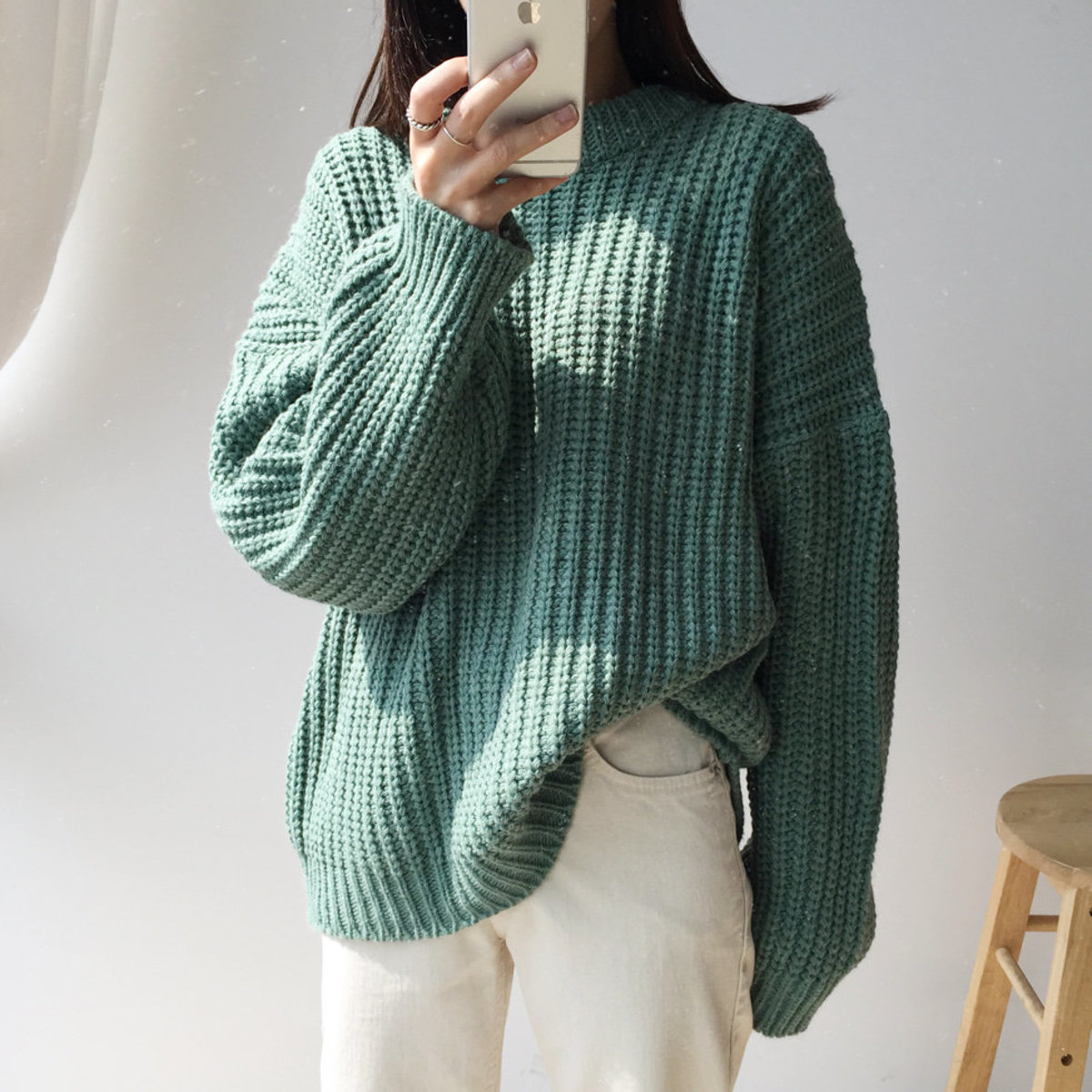 Ribbed Round Thick Knit