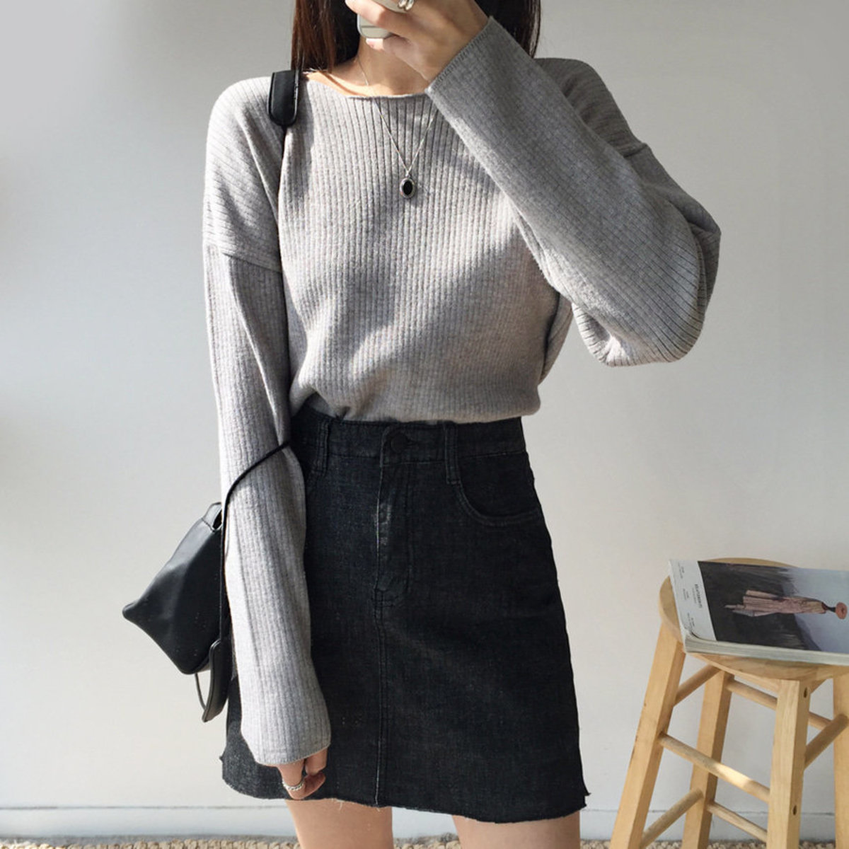 Bowling Ribbed Round Knit