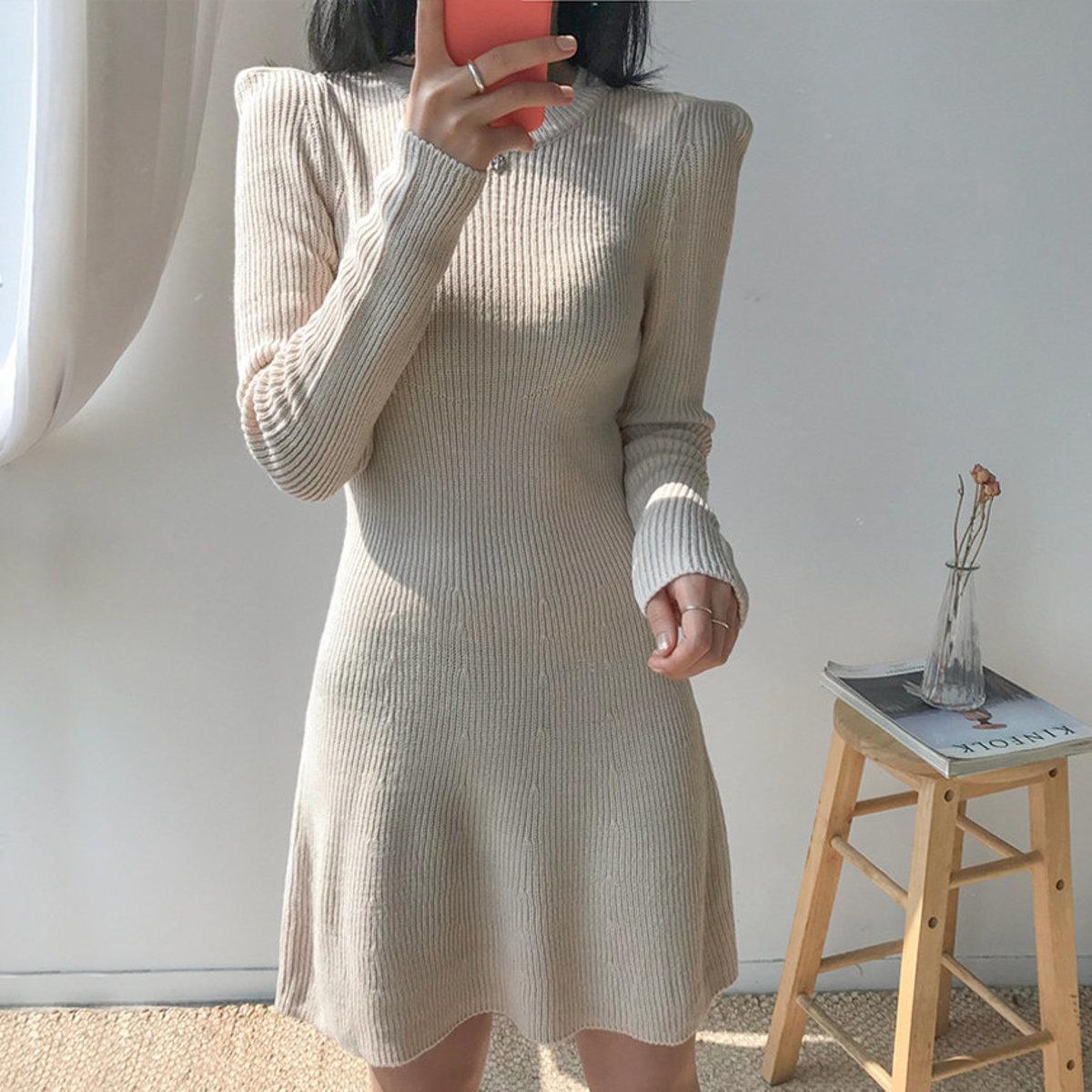 Shoulder Flare Dress