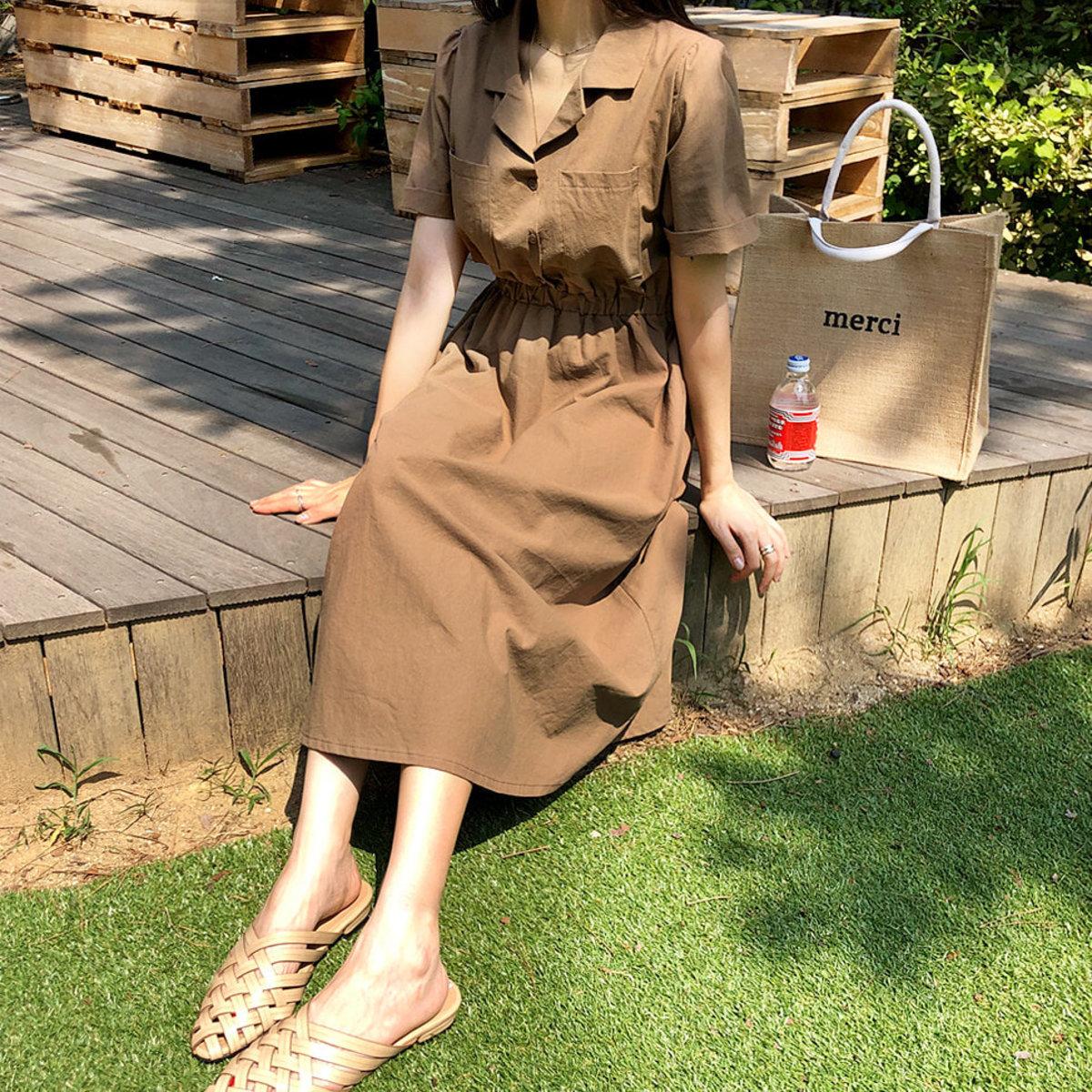 Latte Pocket Dress