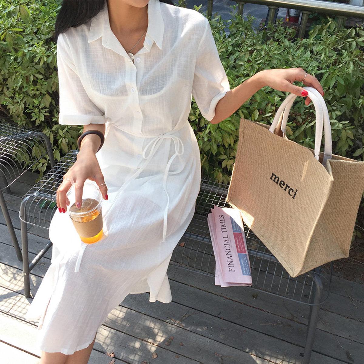Bay Linen Shirt Dress
