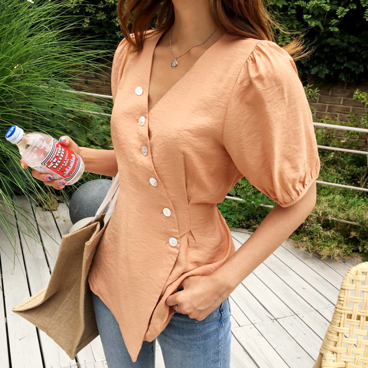 Butterfly Button Blouse