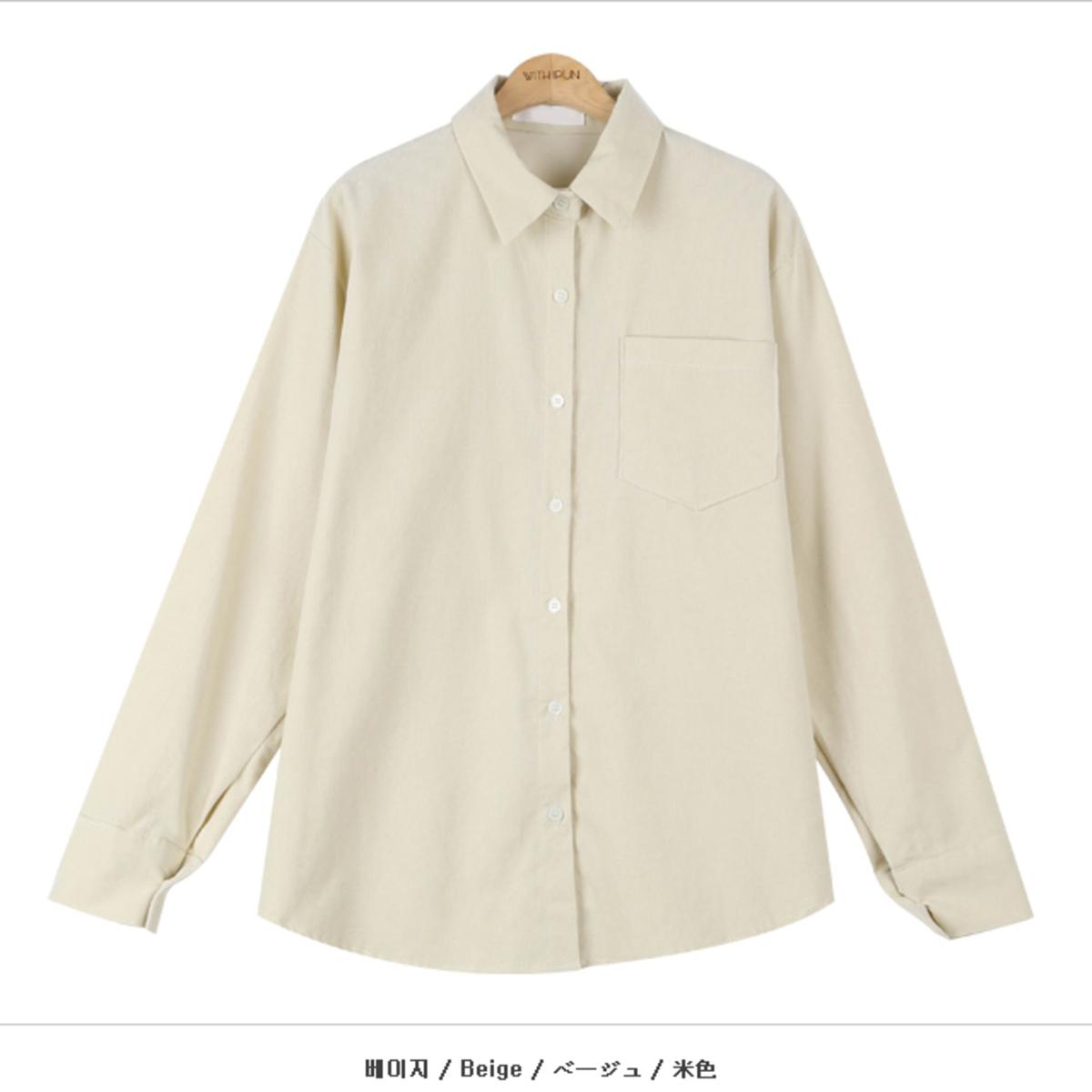 燈芯絨單袋恤衫