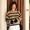 橫間圓領針織衫(連圍巾)