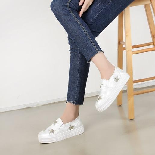 星星厚平底鞋