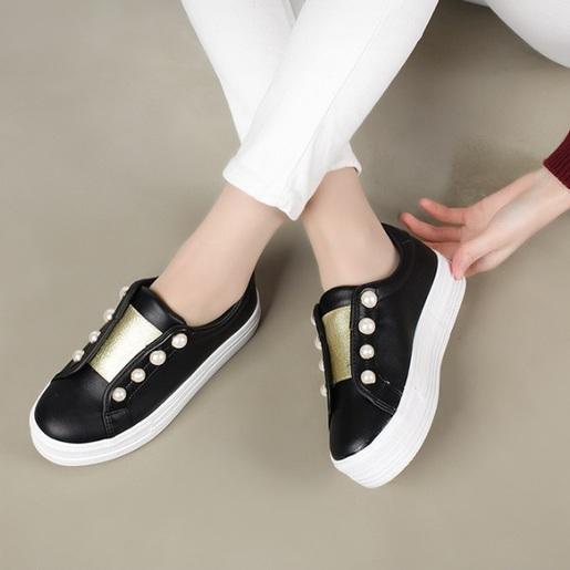 KR-Gold Pearl Slip-ons