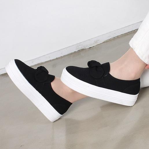 蝴蝶結厚底休閒鞋