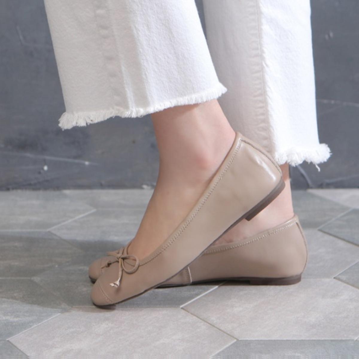 蝴蝶結簡約平底鞋