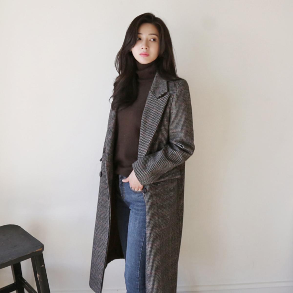 Harpy Wool Check Coat