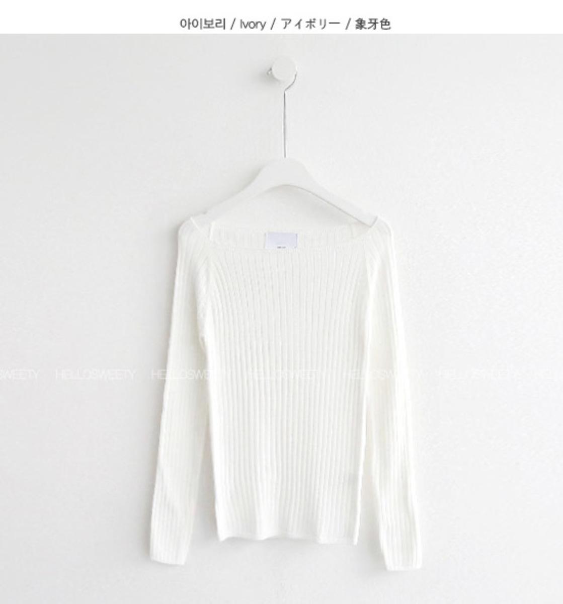 坑紋圓領針織衫