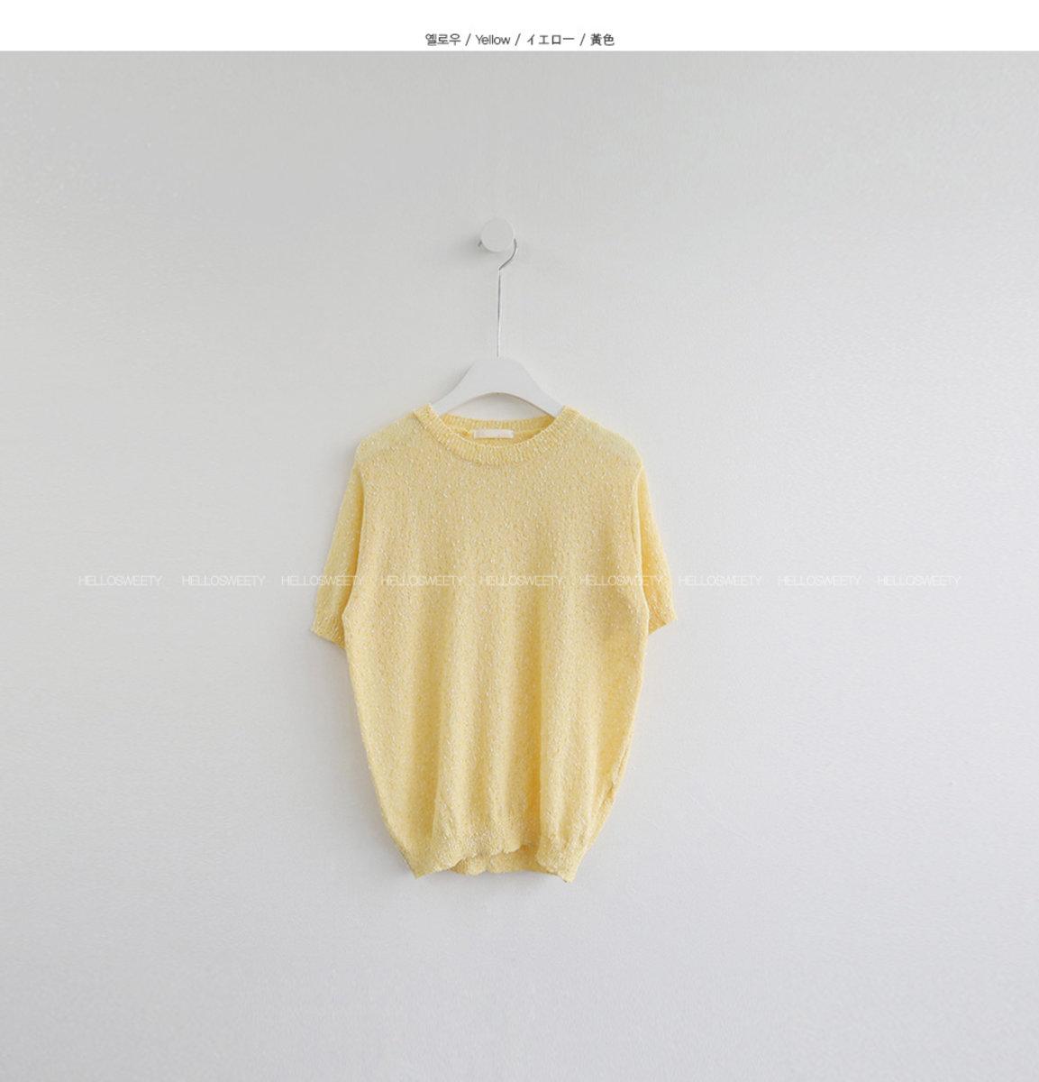 圓領短袖針織衫