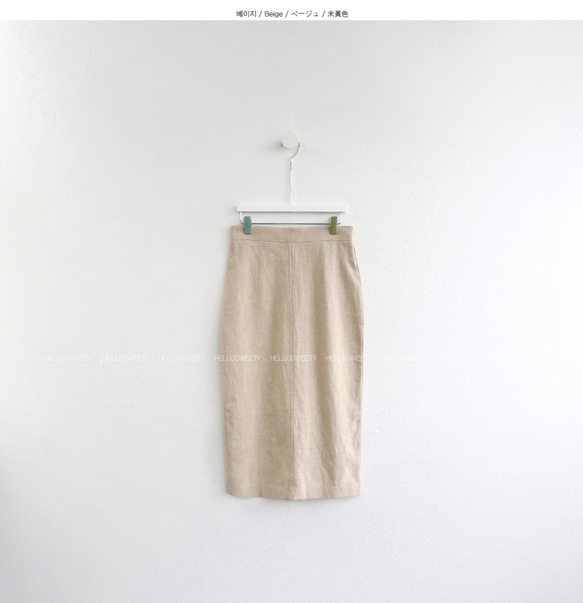 Weidy Linen H Skirt