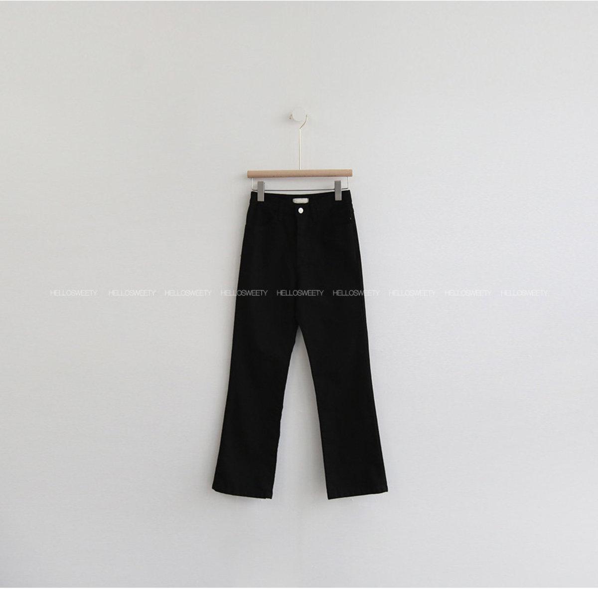 Oiled Boot Cut Pants