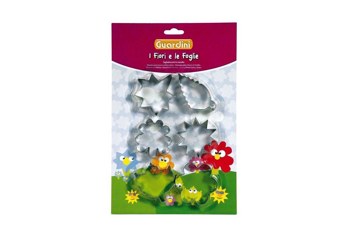 SET 6 COOKIE CUTTERS FLOWERS AND LEAVES THEME