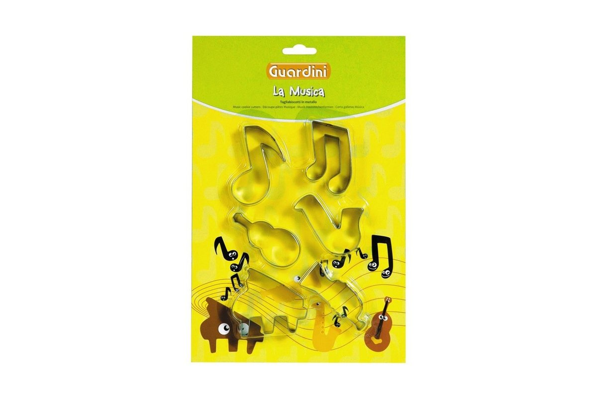 SET 6 COOKIE CUTTERS MUSIC THEME