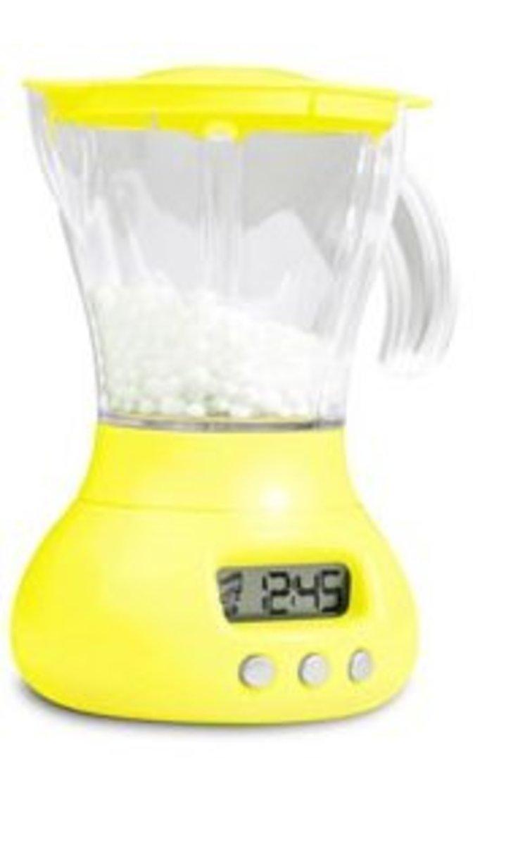 攪拌機型鬧鐘 - 黃色