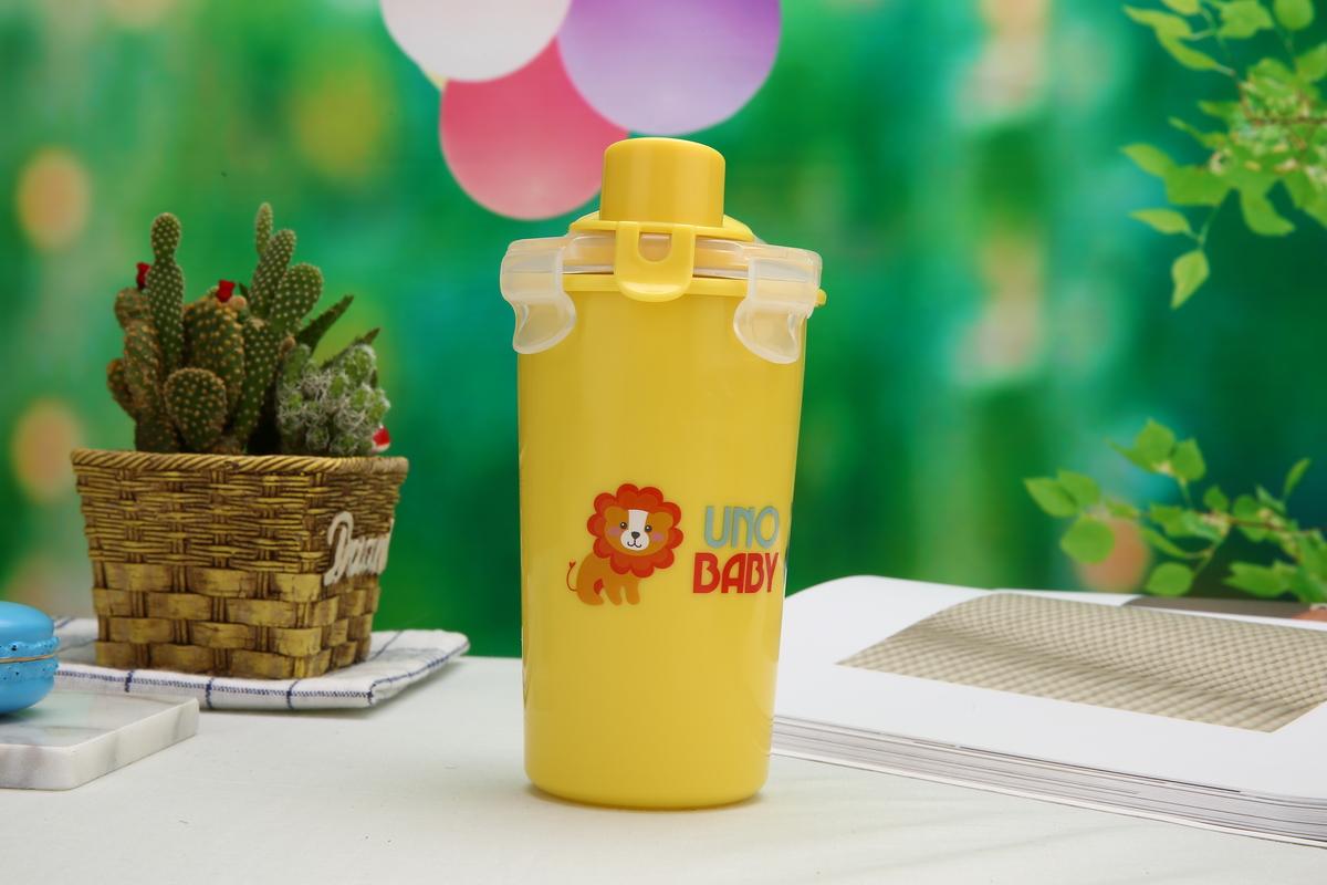 幼兒不鏽鋼水杯有蓋連飲管 360毫升