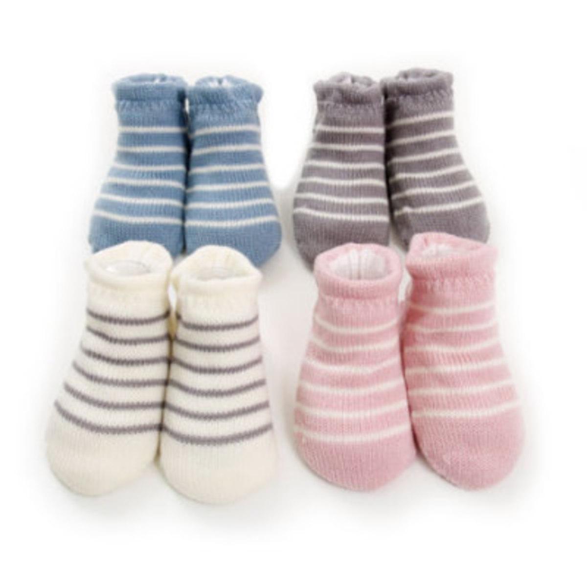 有機羊毛嬰兒襪 (KB-2) Grey