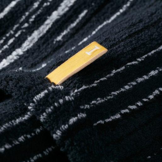 Strait 220 Imabari Towel Japan Towel Handkerchief- Black