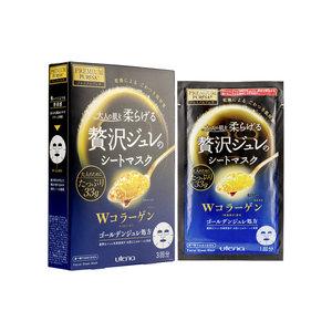 Utena Premium Puresa 黃金凝膠面膜 (雙重膠原蛋白) (3片) [平行進口]