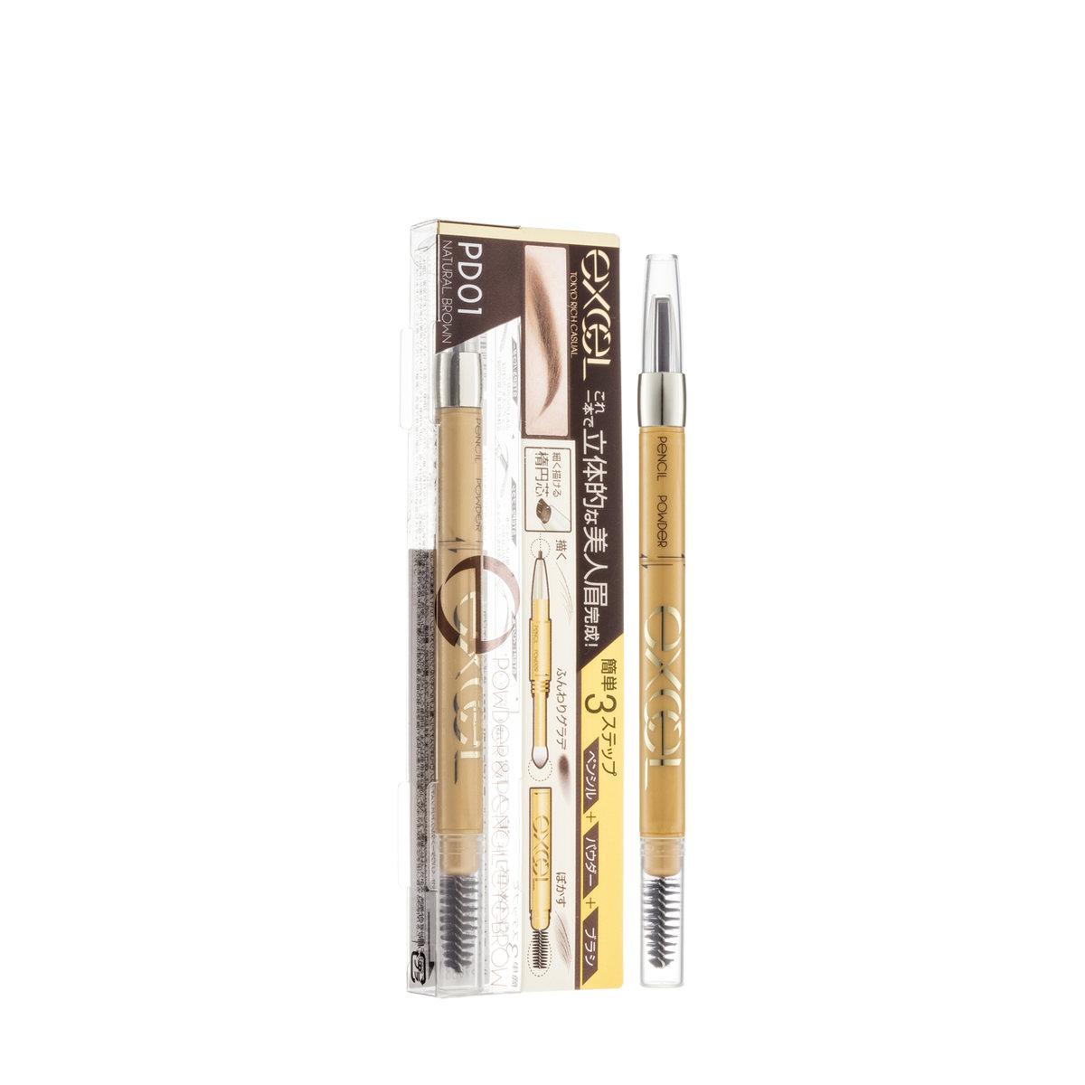 3合1持久造型眉筆 (PD01 自然啡) (莎莎獨家發售) (9克)