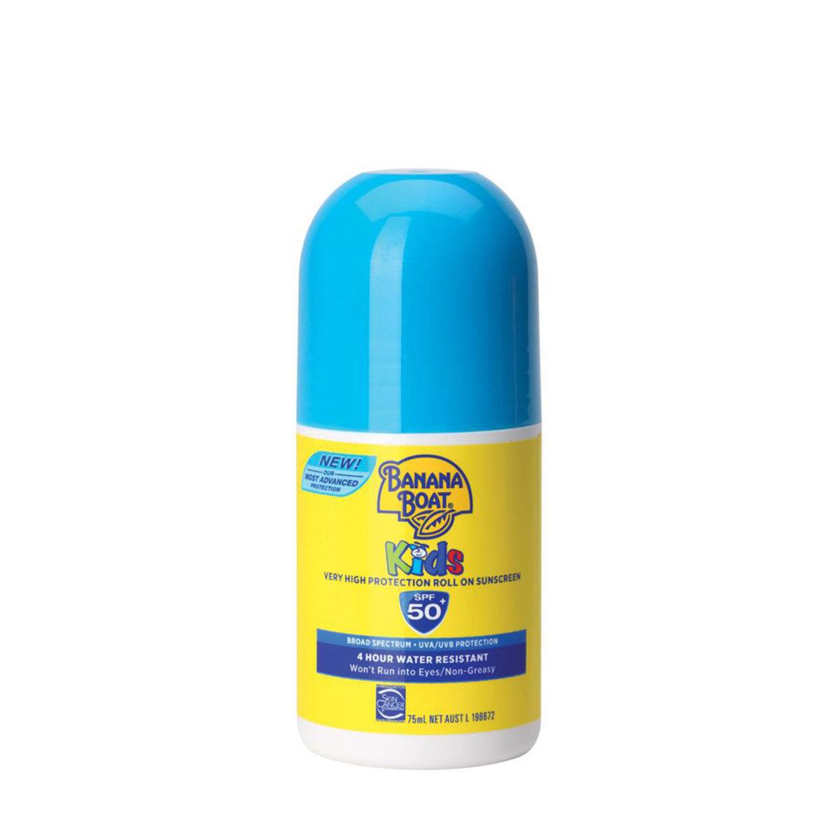 香蕉船兒童(走珠式)防曬乳液SPF50 (75毫升)